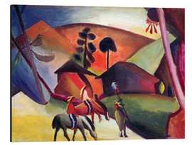 Aluminium print  Indians on horseback - August Macke