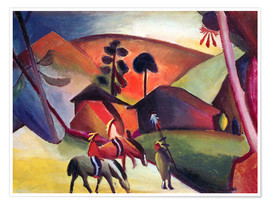Premium poster  Indians on horseback - August Macke