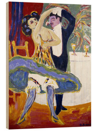 Wood print  Variety (English dance couple) - Ernst Ludwig Kirchner