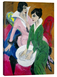Canvas print  Two women with washbasin, The sisters - Ernst Ludwig Kirchner
