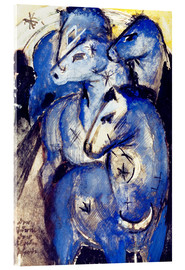 Acrylic glass  Tower Blue Horse - Franz Marc