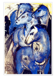 Poster  Tower Blue Horse - Franz Marc