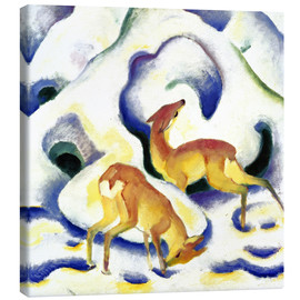 Canvas print  Deer in the snow - Franz Marc