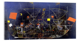 Acrylic print  The adventure ship - Paul Klee