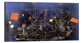 Aluminium print  The adventure ship - Paul Klee