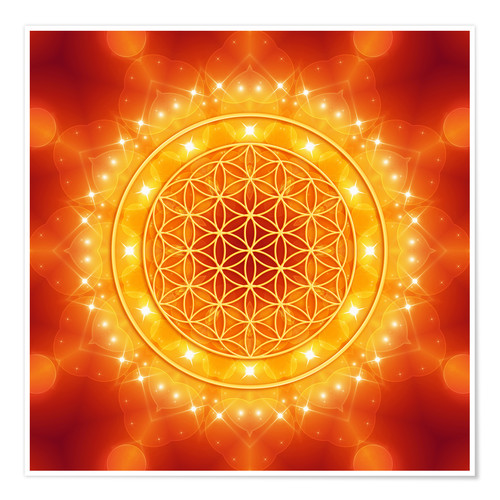 Premium poster Flower of Life - Golden LightEnergy