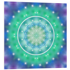 Foam board print  Flower of Life - Relaxation - Dolphins DreamDesign