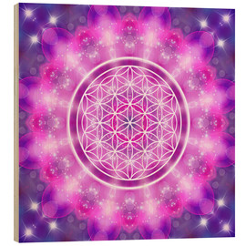 Wood print  Flower of Life - Love Essence - Dolphins DreamDesign