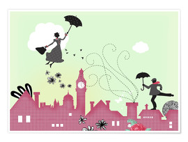 Premium poster  Mary Poppins, London - Elisandra Sevenstar