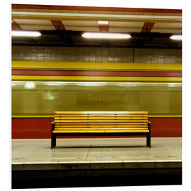Foam board print  Ghosttrain - Tubestation - Nordbahnhof Berlin - CAPTAIN SILVA