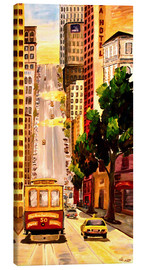 Canvas print  San Francisco - Van Ness Cable Car - M. Bleichner