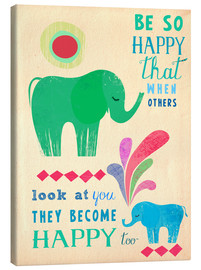 Canvas print  Happy elephants - Elisandra Sevenstar