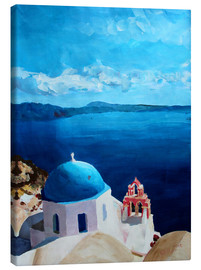 Canvas print  Santorini - View from Oia - M. Bleichner