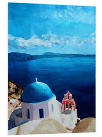 Foam board print  Santorini - View from Oia - M. Bleichner