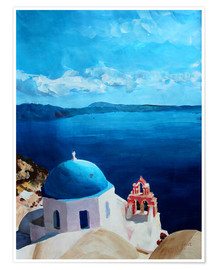 Premium poster Santorini - View from Oia
