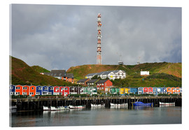 Acrylic print  Colorful crab shacks Helgoland - FineArt Panorama