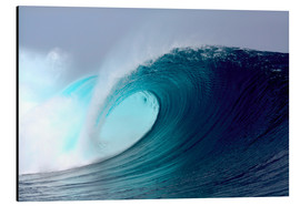 Aluminium print  Tropical blue surfing wave - Paul Kennedy