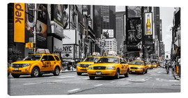 Canvas print  Yellow cabs in Times Square - Hannes Cmarits