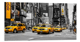 Foam board print  Yellow cabs in Times Square - Hannes Cmarits