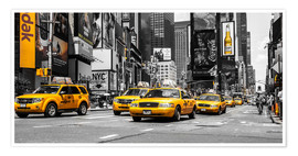 Premium poster Yellow cabs in Times Square