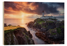 Wood print  Fanad Light - Michael Breitung