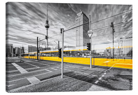 Canvas print  Alexanderplatz Berlin Colorkey - Marcus Klepper