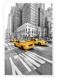 Premium poster  Yellow Taxi / Cab, New York - Marcus Klepper