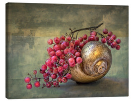 Canvas  the golden snail - Lizzy Pe