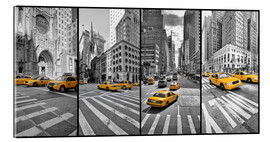 Acrylic print  New York Cab Collage - Marcus Klepper