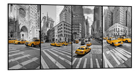 Foam board print  New York Cab Collage - Marcus Klepper