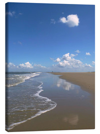 Canvas print  further beach with clouds - Susanne Herppich
