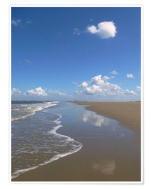 Premium poster  further beach with clouds - Susanne Herppich