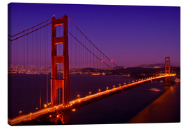 Canvas print  Golden Gate Bridge by Night - Melanie Viola