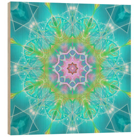 Wood print  Mandala - Dolphin Joy - Dolphins DreamDesign