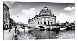 Canvas print  Berlin City Museum sw - Städtecollagen