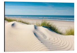 Aluminium print  Langeoog seascape with dunes and fine beach grass - Reiner Würz