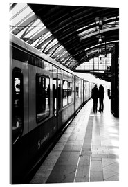 Acrylic print  S-Bahn Berlin black and white photo - Falko Follert