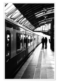 Premium poster  S-Bahn Berlin black and white photo - Falko Follert