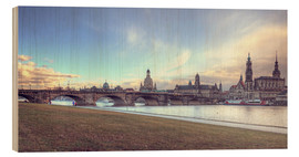 Wood print  Dresden, as viewed by Canaletto earlier - Steffen Gierok