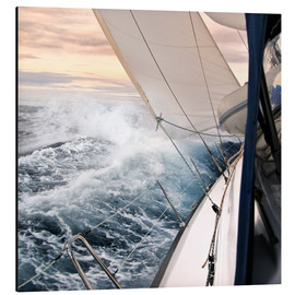 Aluminium print  Sailing through the storm - Jan Schuler