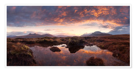 Premium poster Scotland - Highland Sunrise