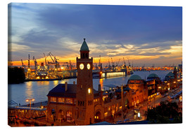 Canvas  Gangplank Hamburg - sunset - bildpics
