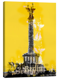 Canvas print  Berlin Victory Column (on Yellow) - JASMIN!