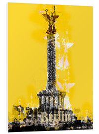 Foam board print  Berlin Victory Column (on Yellow) - JASMIN!