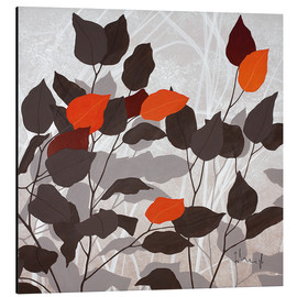 Aluminium print  Autumn leaves III - Franz Heigl