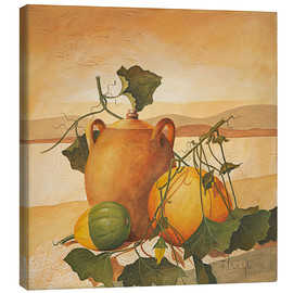 Canvas print  Pumpkins and terracotta - Franz Heigl