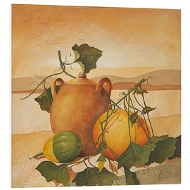 Foam board print  Pumpkins and terracotta - Franz Heigl