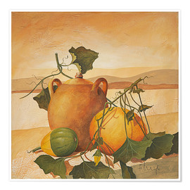 Premium poster  Pumpkins and terracotta - Franz Heigl