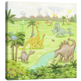 Canvas print  dinosaur landscape - Fluffy Feelings