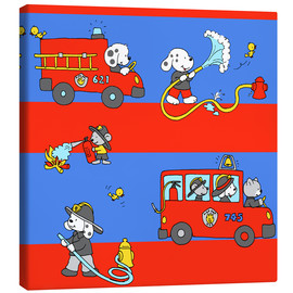 Canvas print  animal fire brigade - Fluffy Feelings